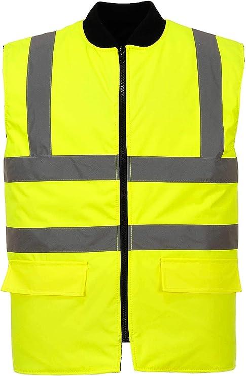 New Hi Viz Reversible Bodywarmer Waterproof Jacket Warm Coat Workwear Security