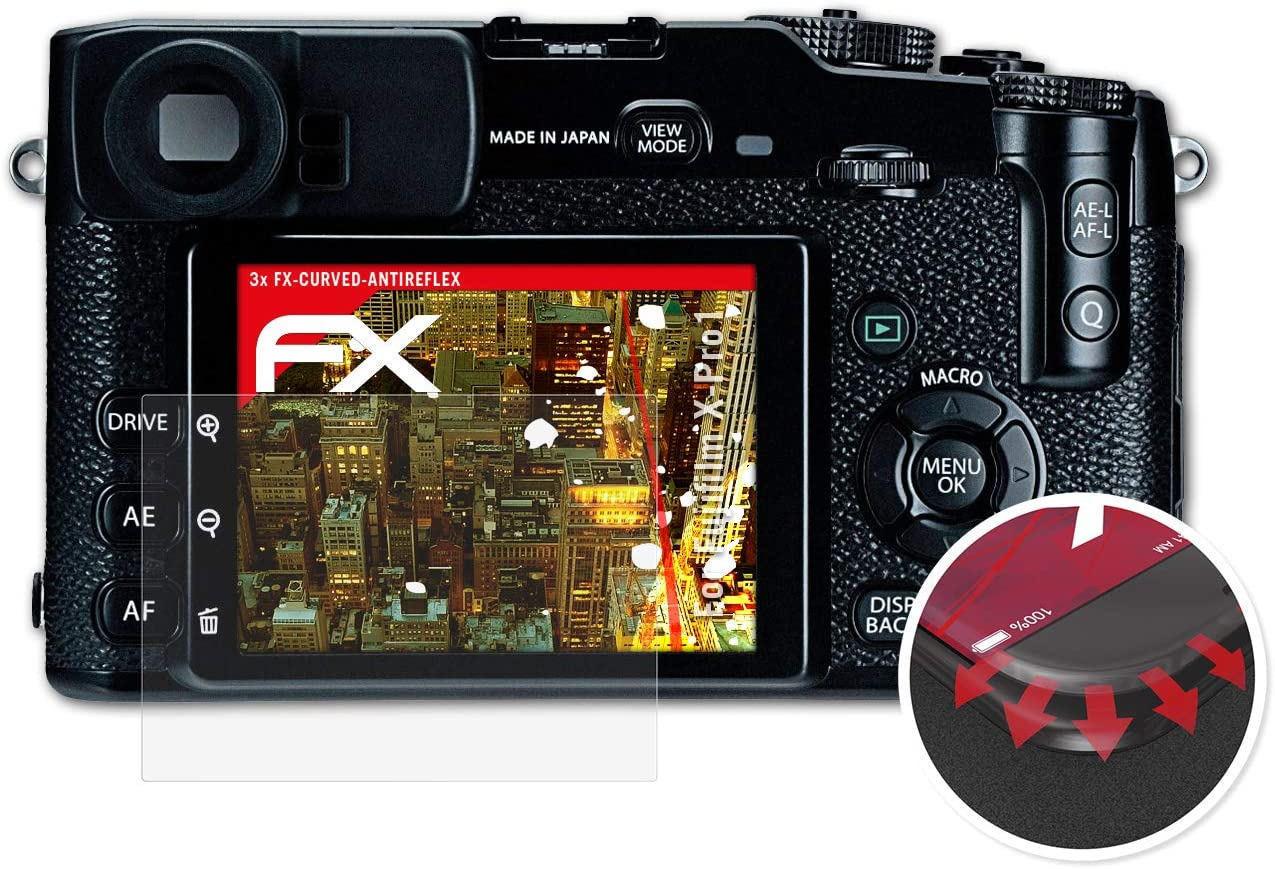 Atfolix Schutzfolie Kompatibel Mit Fujifilm X Pro1 Folie Entspiegelnde Und Flexible Fx Displayschutzfolie 3x Elektronik