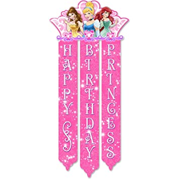 Amazon.com: Disney Princess Royal Event Birthday Banner: Toys & Games