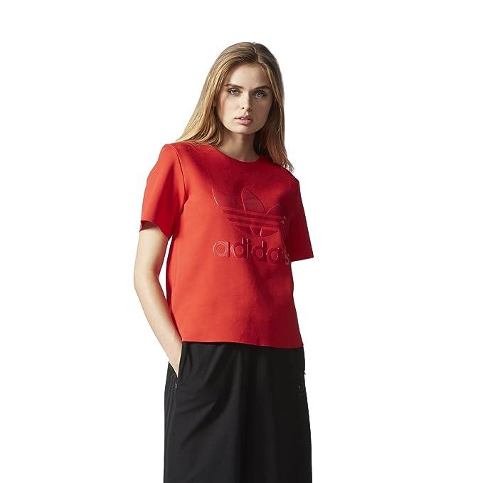 9ef84f26e1 Amazon.com  adidas Women Originals Trefoil Logo Tee  AY6728 (M ...