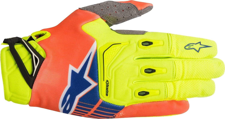 Alpinestars Unisex-Adult Techstar Gloves Yellow//Orange//Blue 2X Multi, one/_size