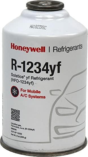 Honeywell 2 Cans Hfo 1234yf Refrigerant 8 Oz 1 Top Can Tap Amazon Co Uk Car Motorbike