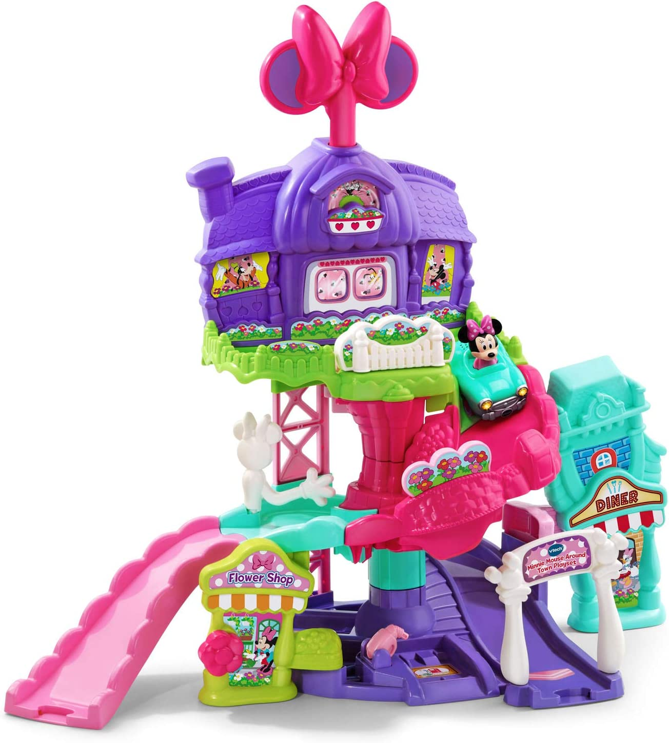 VTech Go! Go! Smart Wheels - Disney Minnie Mouse Around Town Playset