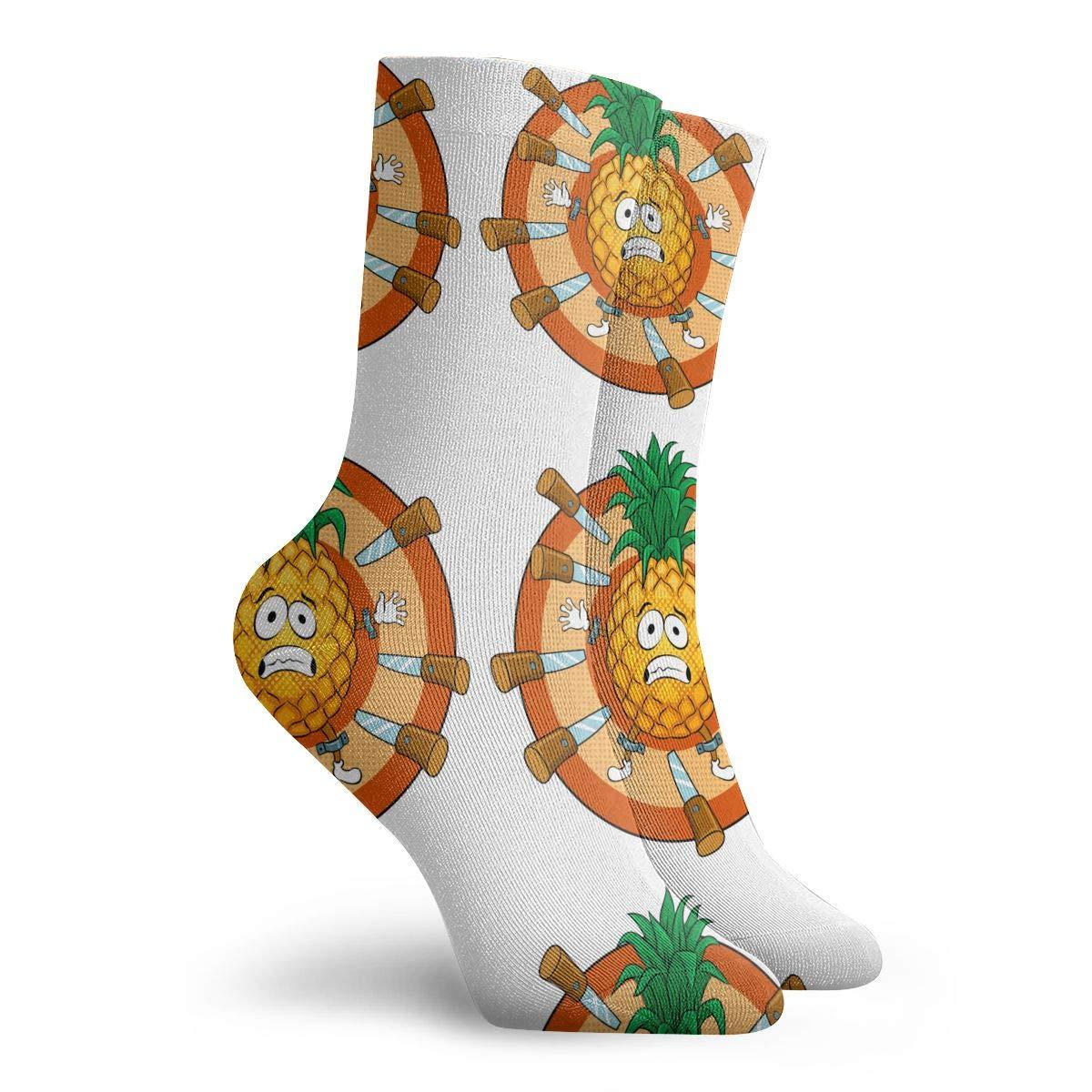 Unisex Pineapple Art Athletic Quarter Ankle Print Breathable Hiking Running Socks