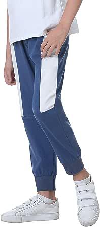 Sykooria Pantalones de Chándal de Algodón para Niños Pantalones Deportivos de Ocio para Escola de Otoño InviernoJogger con Bolsillos para Adolescentes de 4 a 12 Años
