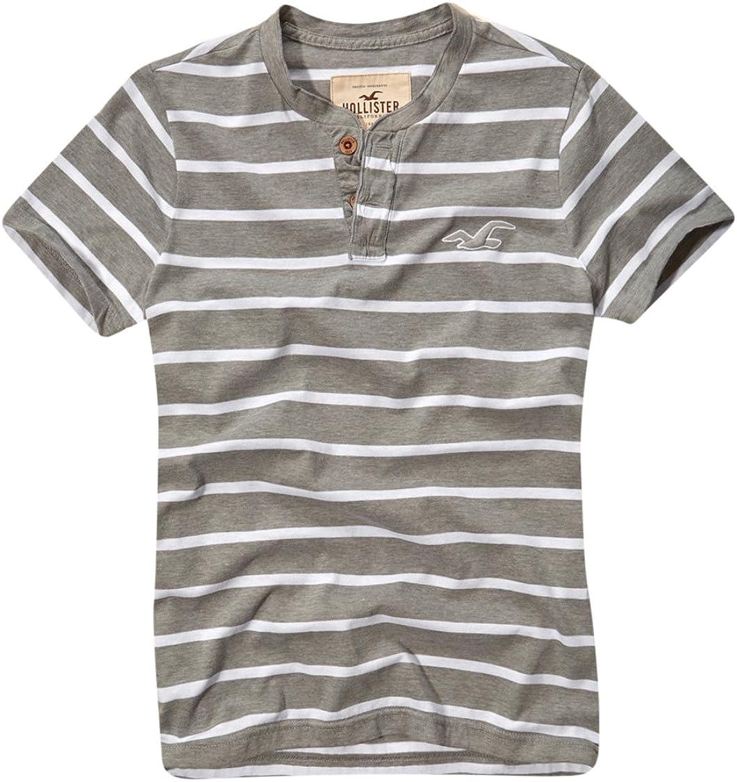 Hollister - Camiseta - con botones - para hombre Gris gris L: Amazon.es: Ropa y accesorios