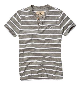 Hollister - Camiseta - con botones - para hombre Gris gris mediano ...