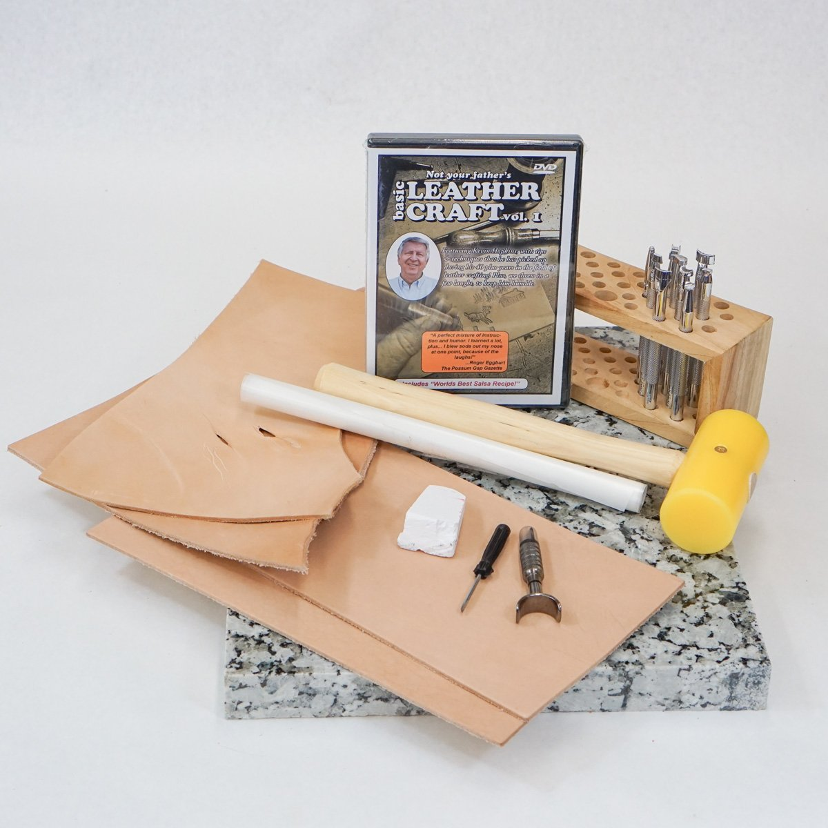 Springfield Leather Company's Basic Leather Tooling and Carving Kit by Craftmaster