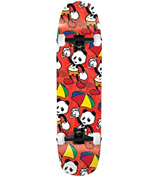 Enjoi Skateboard Complet Dessin Animé Panda Rouge 21 3 Cm Noir