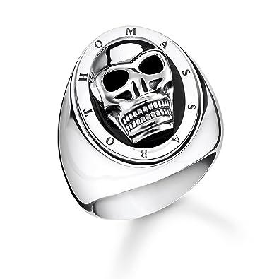 44843cf5dab2 Thomas Sabo Unisex Ring Skull 925 Sterling Silver