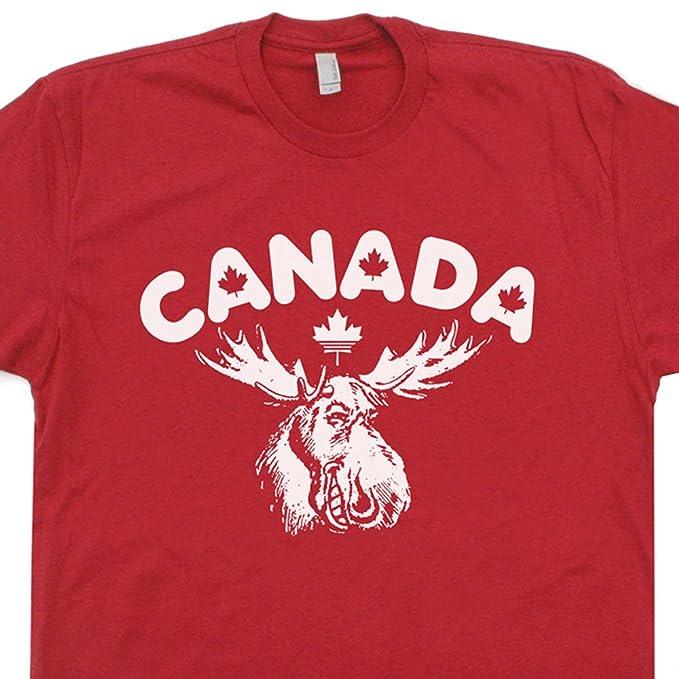 b194bdf3 S - Canada T Shirt Maple Leaf Logo Tee Vintage Tshirt Canadian Flag Cool  Moose Graphic