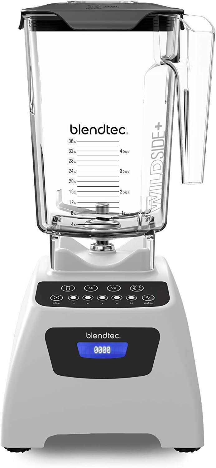 Blendtec Classic 575 Blender - WildSide+ Jar (90 oz) - Professional-Grade Power - Self-Cleaning - 4 Pre-programmed Cycles - 5-Speeds - Polar White