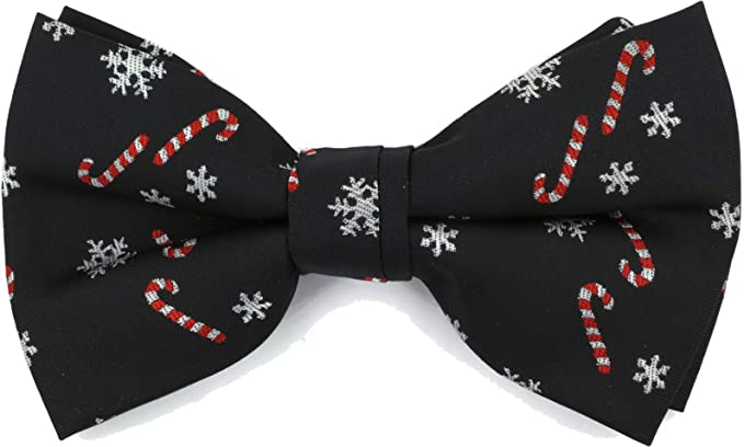 c094d1389bac Dickie Bows Christmas Bow Tie with a Festive Design (Black Snowflake &  Candy): Amazon.co.uk: Clothing