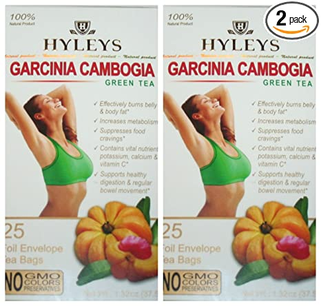 Amazon Com Hyleys 100 Natural Slim Tea Garcinia Cambogia Green