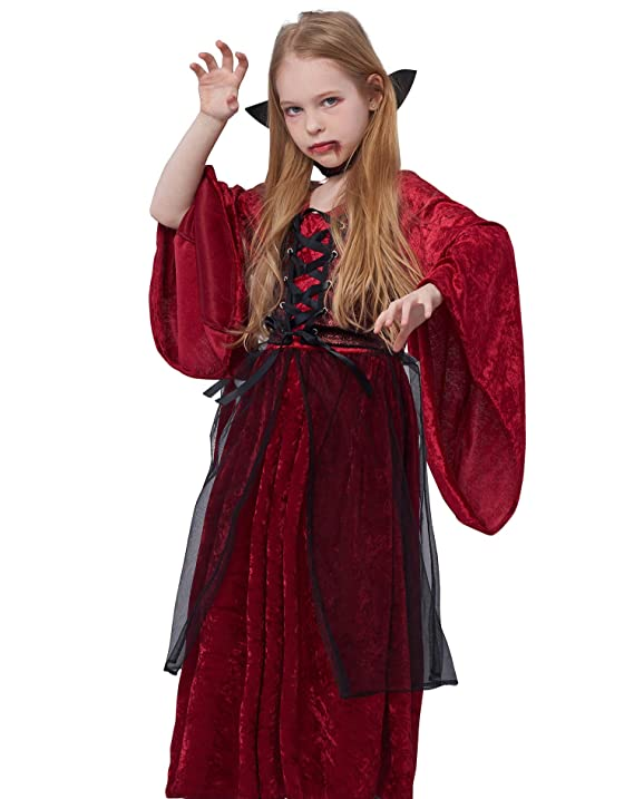 Amazon.com: Victoriano VAMPIRESA disfraz infantil decoración ...