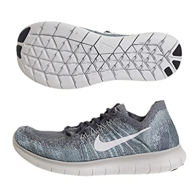 NIKE Men's Free RN Flyknit 2017 Running Shoe Blue Fox/Pure Platinum-Wolf Grey