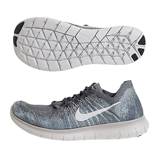 099dd942464 Nike Men s Free RN Flyknit 2017 Running Shoe Blue Fox Pure Platinum-Wolf  Grey-White 8.5  Buy Online at Low Prices in India - Amazon.in