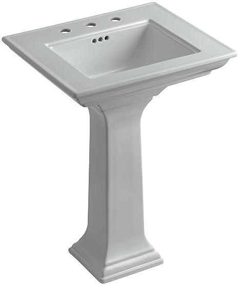 Kohler Memoirs Pedestal Sink 24.Kohler K 2344 8 95 Memoirs Pedestal Bathroom Sink With Stately Design And 8 Centers Ice Grey