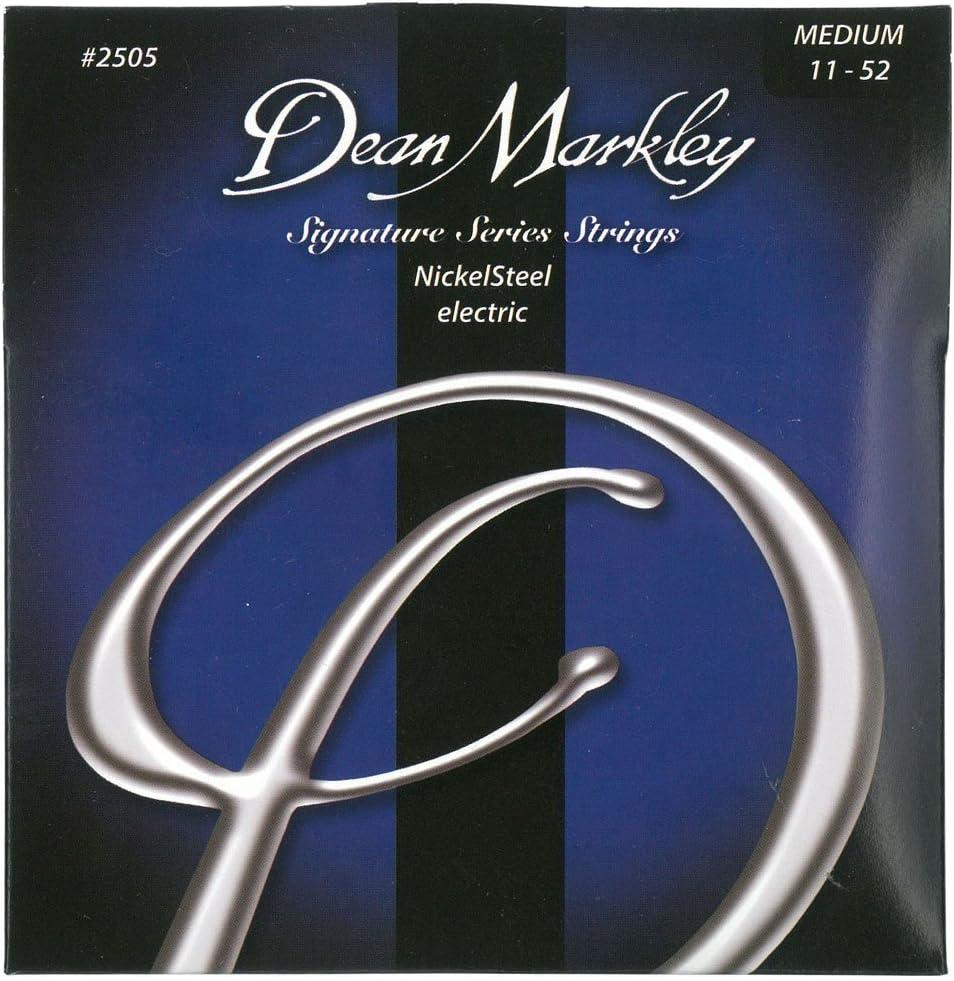 Dean Markley NickelSteel Electric MED 2505 - Juego de cuerdas para guitarra eléctrica de acero de níquel.011-.052