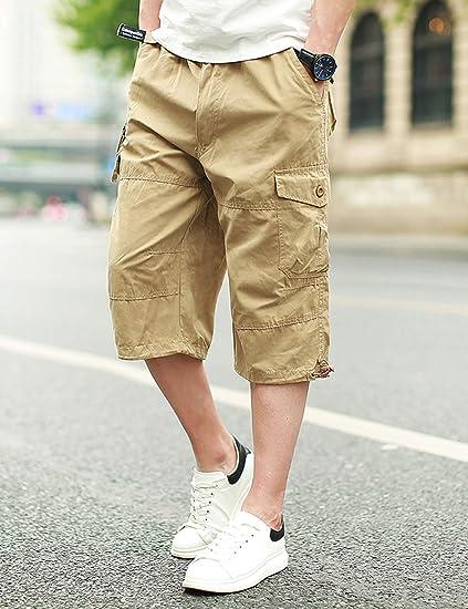 MeetHoo Homme Shorts Cargo Bermudas Pantacourt Multi Poches Short descalade Casual Sport Pantalon Tactique Courts L/âche Et/é