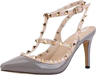 4b00ff14ef53 Loslandifen Ladies High Heels Party Wedding Count Pump Shoes