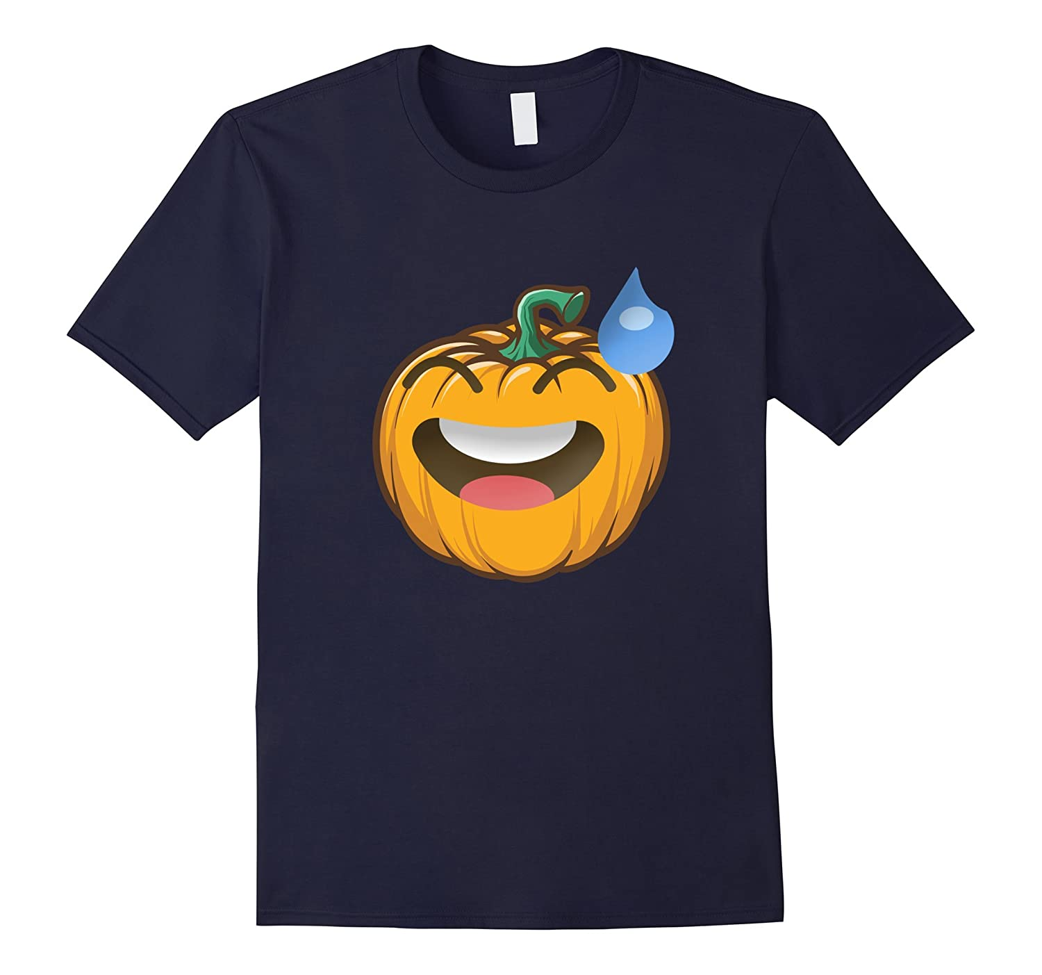 Pumpkin Emoji smiling face with cold sweat shirt Halloween-FL