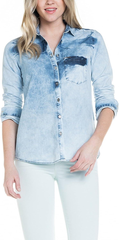 Salsa – Camisa Magda Lena, en Premium de lavado – Mujer Azul azul: Amazon.es: Ropa y accesorios