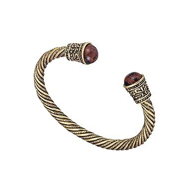 De En Laiton Serti Ancien Bracelet Viking Bois Perles dCxosQthrB