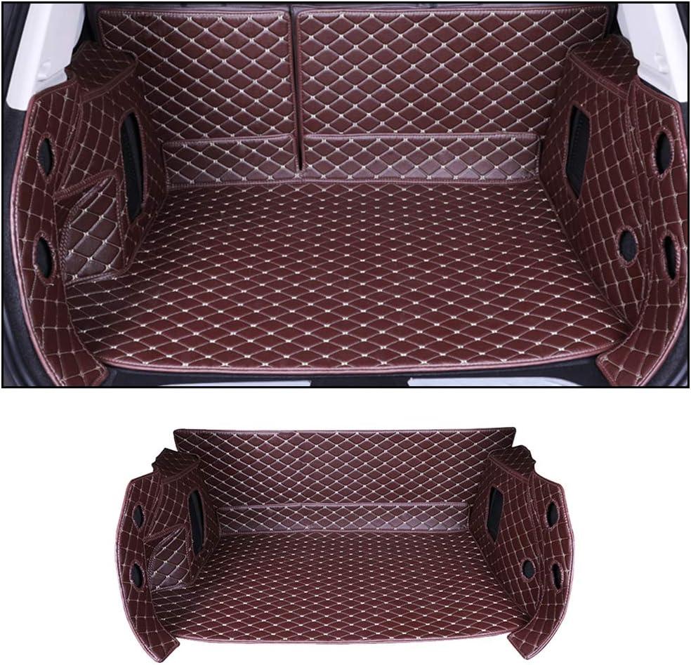 Car Trunk Mats for Toyota RAV4 2009-2013 All Season Protection Advanced Performance Cargo Mat Custom Heavy Duty Full Covered PU Luxury Leather Black