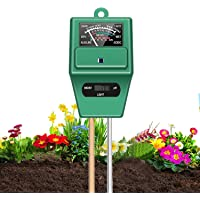 3 in 1 Soil Tester, T Tersely Soil Moisture Meter,Plant Moisture/Light/pH Acidity Meter Tester, Soil Water Monitor…