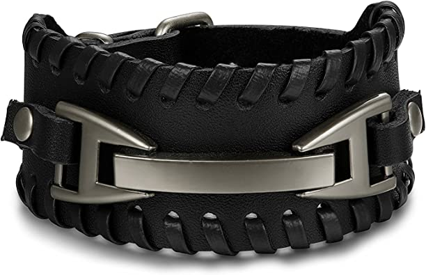 bracelet cuir femme rock