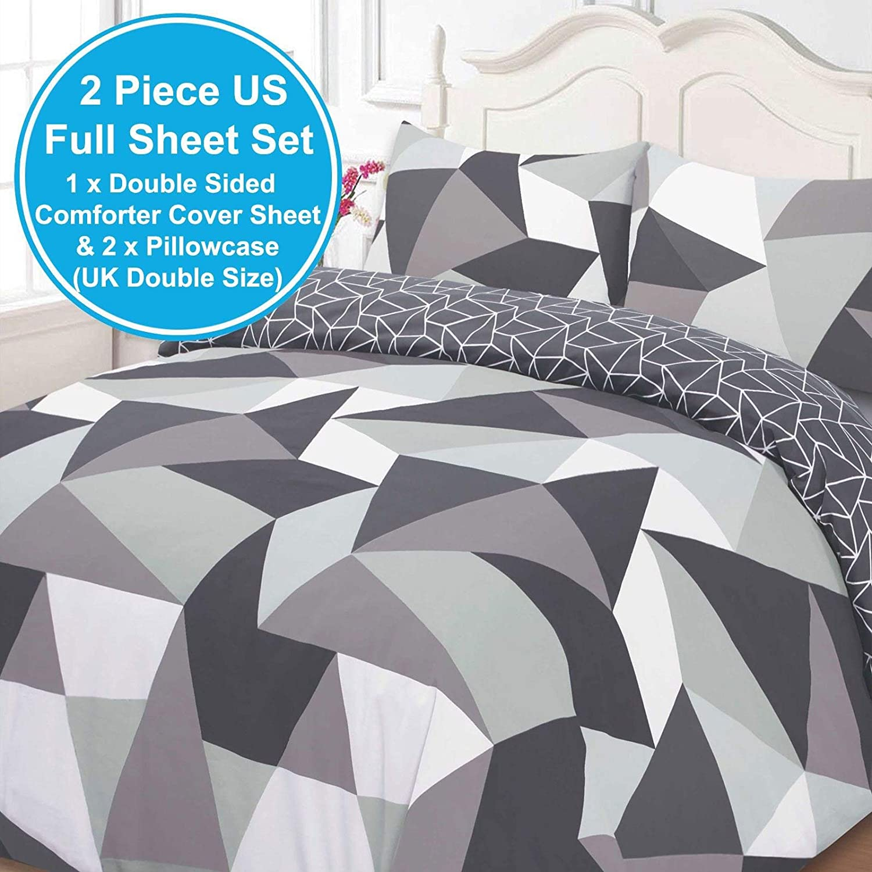 5df0e0f24f6b Dreamscene Shapes Duvet Cover with Pillow Case Bedding Set,  Polyester-Cotton, Black, Double: Amazon.co.uk: Kitchen & Home