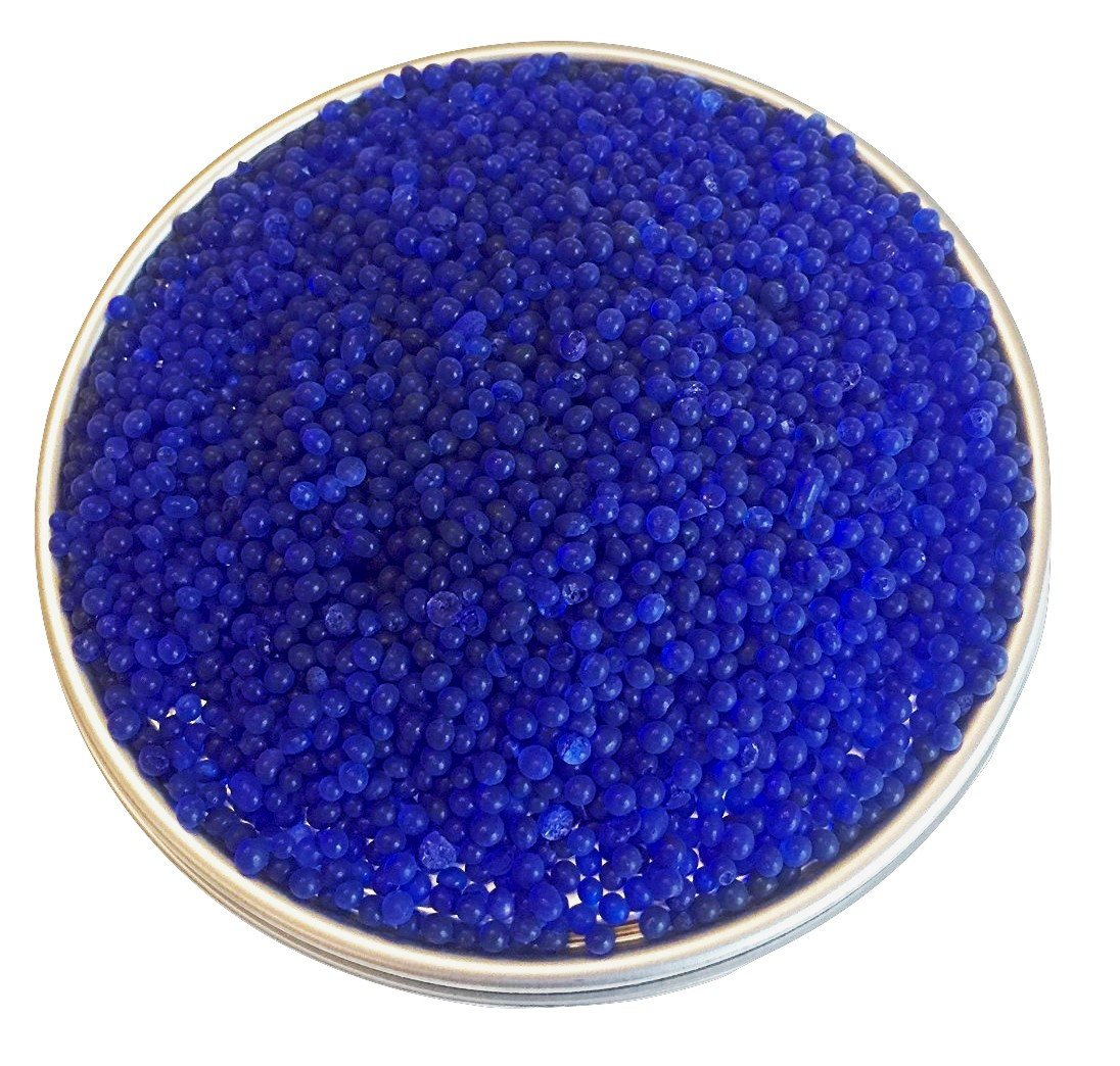2.5 LBS of Industry Standard Blue Bead Indicating Silica Gel Desiccant and Dehumidifiers