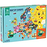 "Mudpuppy Map of Europe Puzzle, 70 Pieces, 22""x17.25"" – Perfect for Kids Age 5-9 - Learn Countries of Europe by Name, Shape, L"