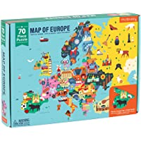 "Mudpuppy Map of Europe Puzzle, 70 Pieces, 22""x17.25"" – Perfect for Kids Age 5-9 - Learn Countries of Europe by Name…"