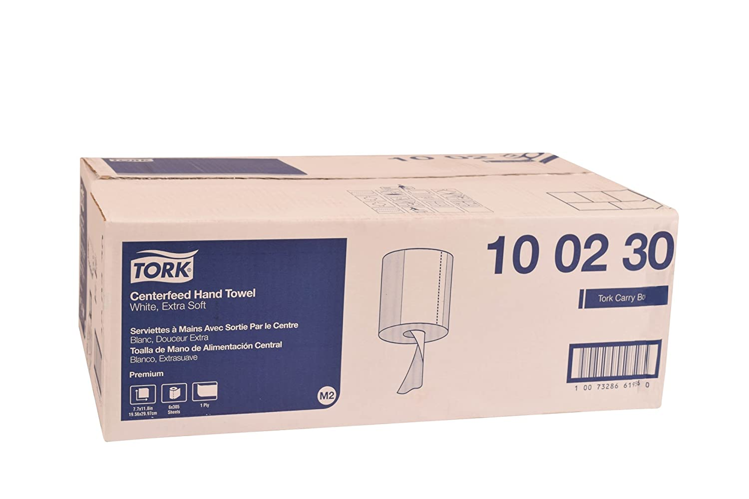 Tork 100230 Premium Extra Soft Centerfeed Hand Towel, 1-Ply, 7.7