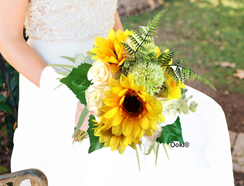 Iris Bouquet - 4 pc set Rustic Bouquet Wedding Bouquet Rustic Wedding Sunflower Bridal Bouquet Bridal Wedding Sunflower Bouquet