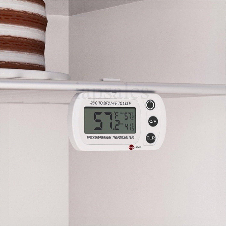 Fácil de Leer Termómetro digital Frigorífico/congelador de: a ...