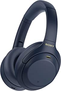 Sony WH-1000XM4 Wireless Industry Leading Noise Canceling Overhead Headphones with Mic for Phone-Call and Alexa Voice Control, Blue