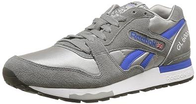 Reebok Gl 6000 Athletic, Baskets mode homme - Noir (Grey/Vital Blue/White/Black), 44 EU