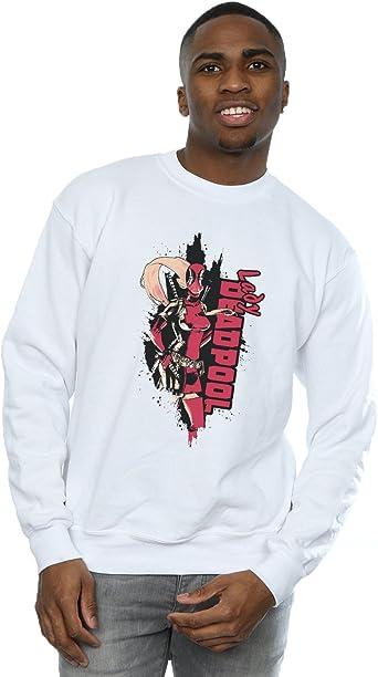 Marvel Homme Deadpool Lady Deadpool Sweat Shirt