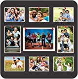 Marine Pearl 12x12 Inch Multifunctional Pin Up Photo Frame Wall Hanging Collage Soft Board for Home & Office (Sporty, Black)