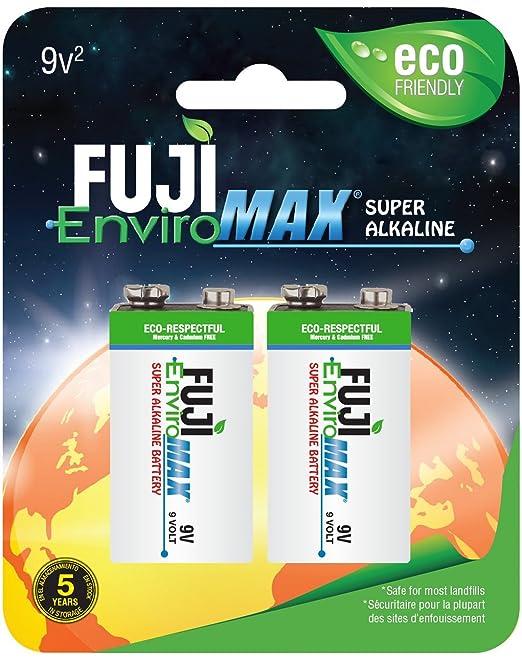Amazon.com: Fuji EnviroMAX Super Alkaline 9 Volt Eco Friendly Batteries  (Pack of 4): Home Audio & Theater