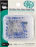 Dritz 172 Glass Head Pins, Ultra Fine, 1-3/8-Inch