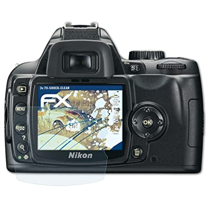 atFoliX Antichoque Película Protectora Compatible con Nikon D60 ...