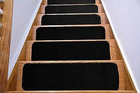 Comfy Stair Tread Treads Indoor Skid Slip Resistant Carpet Stair Tread  Treads Machine Washable 8 ½