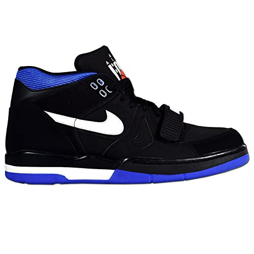 timeless design 8d15c 2f136 Nike - AIR ALPHA FORCE II - Basketball - Mid Top Sneaker - Nero  Bianco   Roval Blue Amazon.it Scarpe e borse