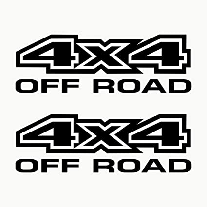 Autodomy Pegatinas 4x4 Off Road Todoterreno Pack 2 Unidades para Coche (Negro): Amazon.es: Coche y moto