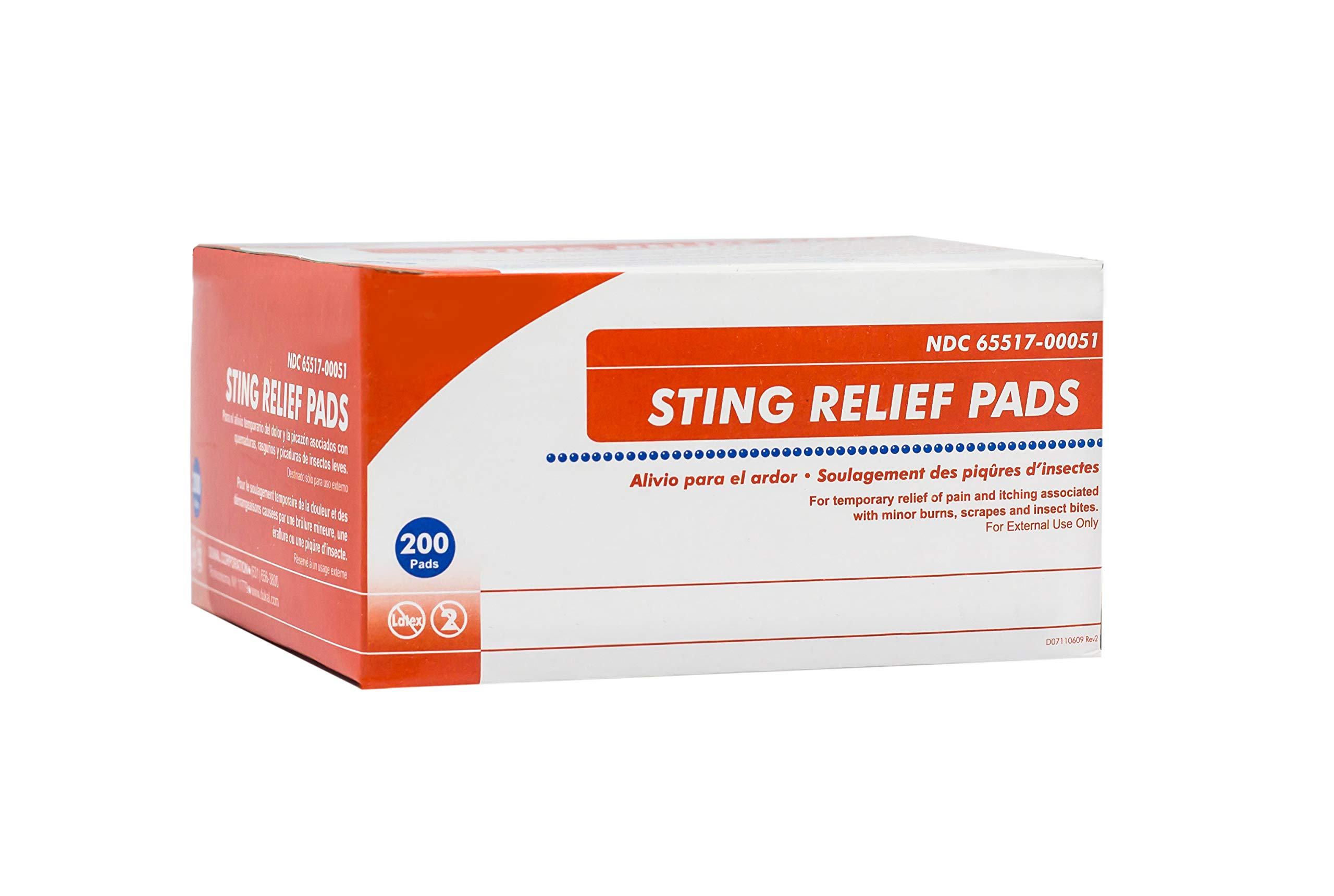 Sting Relief Pads. Case of 3000 Anesthetic Pads for Burns, scrapes, Insect Bites. Individual Pouches. 6% Benzocaine, 60% Isopropyl Alcohol. 2-ply Pain Relief Pads. by AMZ Medical Supply