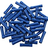AIRIC Blue Butt Connectors Crimp 100pcs 16-14AWG Butt Connector Fully Insulated PVC Wire Butt Splice Connectors, 16-14…